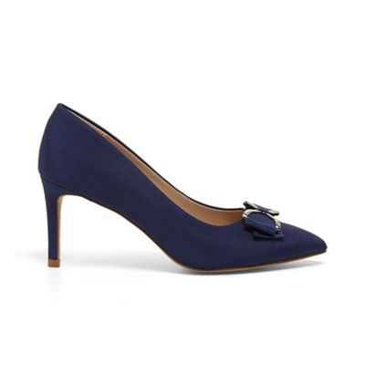 Phase Eight - Blue amelia bow front court shoes