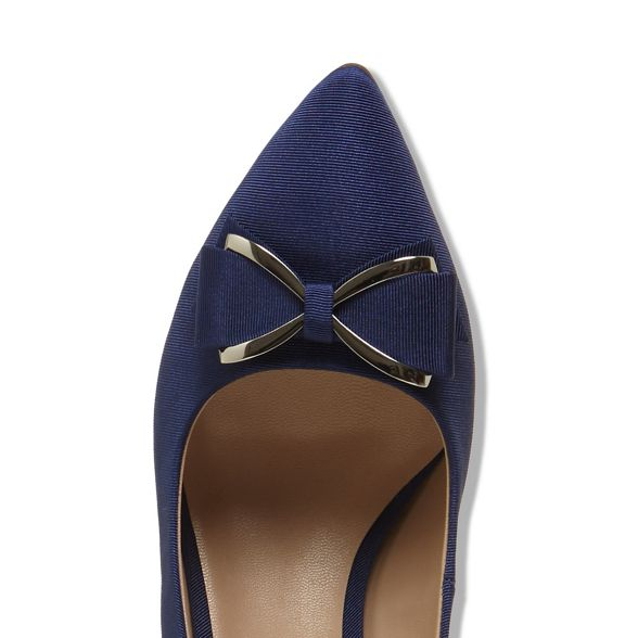 shoes Blue front bow Phase Eight amelia court UqfFFw