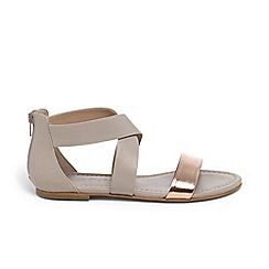 Phase Eight - Grey kourtney cross front flat sandals