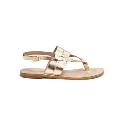 Phase Eight - Metallic katarina v front flat sandals