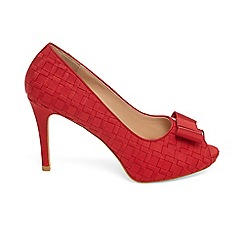 Phase Eight - Red clio weave peep toe shoes