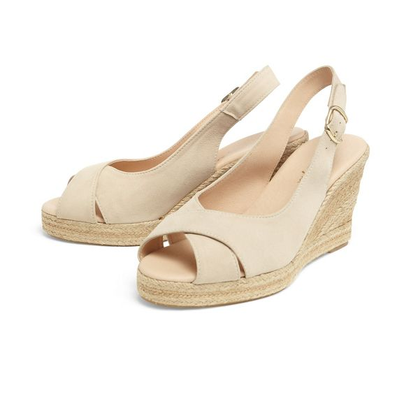 shoes Phase peep toe espadrille wedge Eight leather Natural lana 8nxc7q8z
