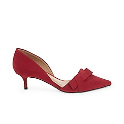 Phase Eight - Red maddy two part kitten heel court shoes