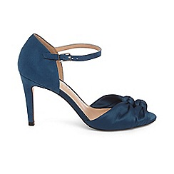 Phase Eight - Blue bonnie satin knot front peep toe sandals