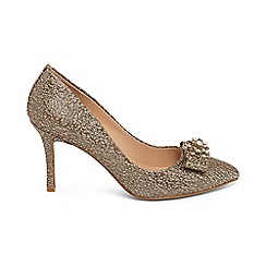 Phase Eight - Metallic jaden jacquard court shoes