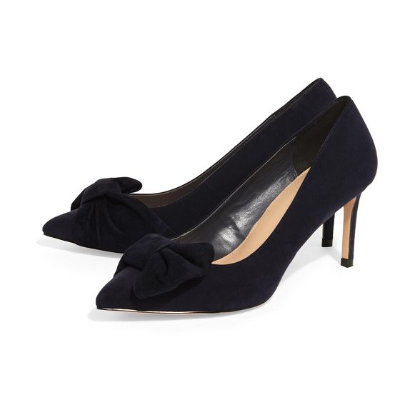 Phase Navy bianca shoes court Eight bow f6rAfq