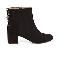 Phase Eight - Black valentine lace back boots