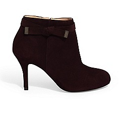 Phase Eight - Purple stephanie leather tie side boots
