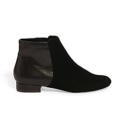 Phase Eight - Black tammy textured flat boots