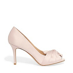 Phase Eight - Pink alice satin bow peep toe shoes