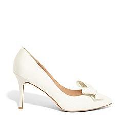 Phase Eight - Cream Kara satin pointed court shoes