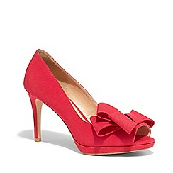 Phase Eight - Pink tilly grograin peep toe shoes