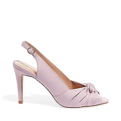 Phase Eight - Purple Rhia Knot Front Slingback Peeptoe Shoes
