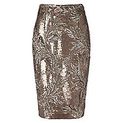 Phase Eight - Bronze nasia sequin skirt