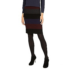 Phase Eight - Multi-coloured Cecelia wide stripe knit skirt