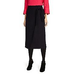 Phase Eight - Black Emeraude cross front skirt