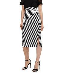 Phase Eight - Black shadi striped skirt