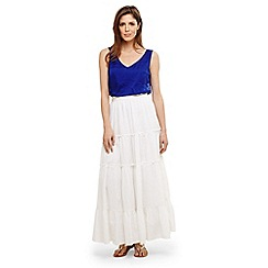 Phase Eight - White catherine tiered maxi skirt