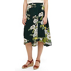 Phase Eight - Green Chrissy botanical print skirt