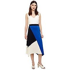 Phase Eight - Blue cassandra colour block skirt