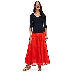 Phase Eight - Orange catherine tiered maxi skirt