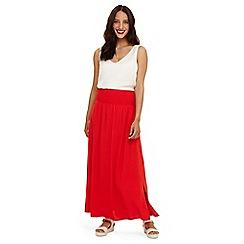 Phase Eight - Red sam elasticated waist skirt