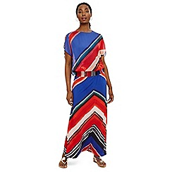 Phase Eight - Blue cersi chevron maxi skirt