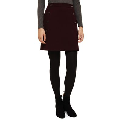 Phase Eight   Blackberry Laya Double Button Skirt by Phase Eight