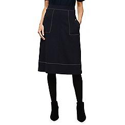 Phase Eight - Navy castielle a-line stitch skirt