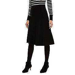 Phase Eight - Black francis full knit skirt