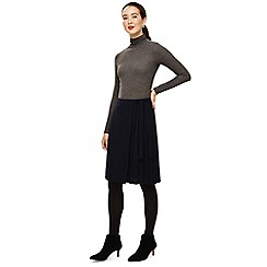 Phase Eight - Navy marcella pleat side skirt