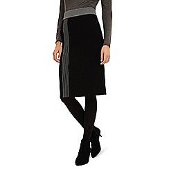 Phase Eight - Black megan colour block knit skirt