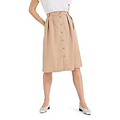 Phase Eight - Natural Bel-Marie Button Through Skirt