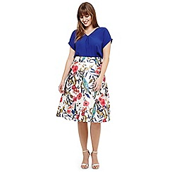 Studio 8 - Sizes 12-26 White samantha floral skirt