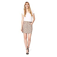 Damsel in a dress - Brown alexia leopard print denim skirt