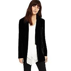 Phase Eight - Black silk blend velvet jacket