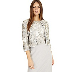 Phase Eight - Grey suki lace jacket