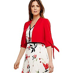 Phase Eight - Red claudia tie sleeve jacket