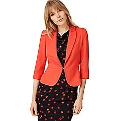 Damsel in a dress - Orange wilton peplum jacket