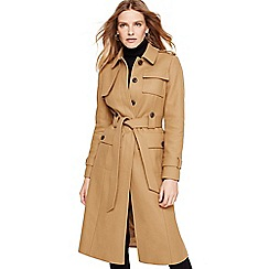 Damsel in a dress - Camel eleni trench belted coat