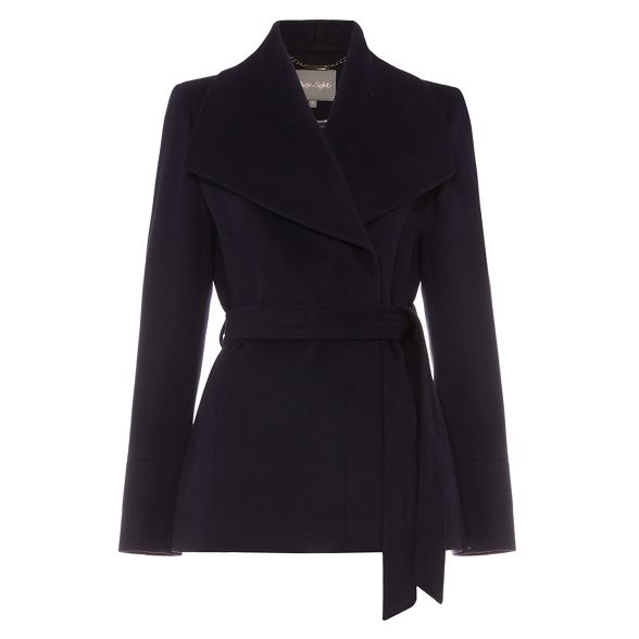 nicci Eight Short Phase belted coat FqSnETw
