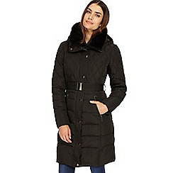 Phase Eight - Black Deasia long diamond puffer coat