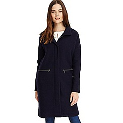 Phase Eight - Navy Kacie funnel neck coat