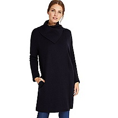 Phase Eight - Navy paloma plain jacquard knit coat