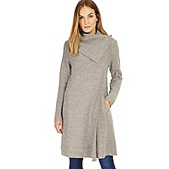 Phase Eight - Grey marl Bellona level hem coat