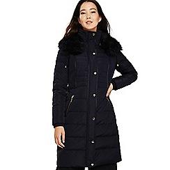 Phase Eight - Navy brisa long puffer coat