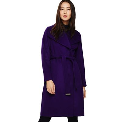 Phase Eight   Purple Nicci Belted Coat by Phase Eight