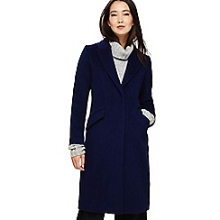 Phase Eight - Blue Arlet seamed crombie coat