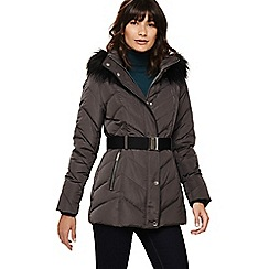 Phase Eight - Slate chandra short chevron puffer coat