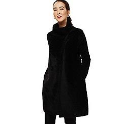 Phase Eight - Black fiona fluffy knit coatigan